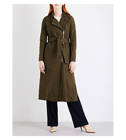 OSMAN Joplin waxed cotton coat (Khaki