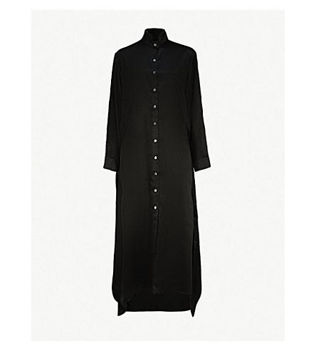 OSMAN Joselyn satin midi dress (Black