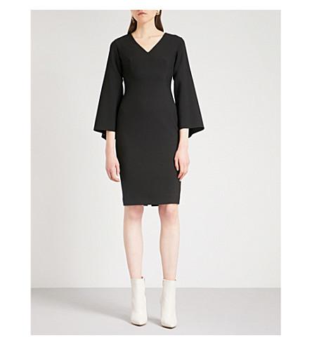 OSMAN Daphnis flared-sleeve woven dress (Black