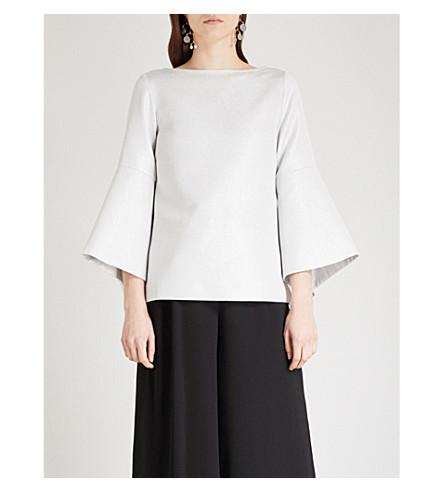 OSMAN Lessie cotton-blend top (Silver