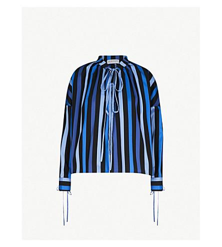OSMAN Jacky striped cotton top (Blues