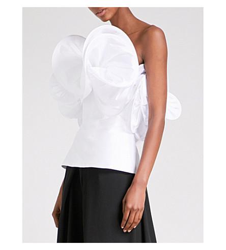 OSMAN Rania strapless taffeta top (White