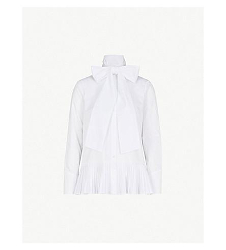 OSMAN伊菲竖起棉衬衫 (白色