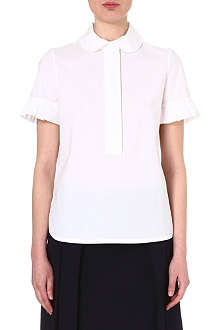 TORY BURCH Poplin stretch-cotton shirt