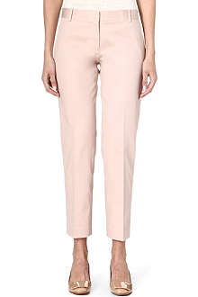 TORY BURCH Harp slim-fit cropped trousers