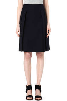 TORY BURCH Cotton-blend poplin skirt
