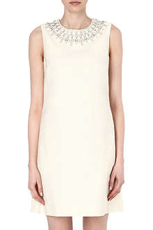 TORY BURCH Embellished cotton dress