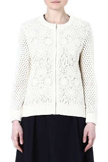 TORY BURCH Trixy crocheted cardigan
