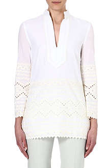 TORY BURCH Zita embroidered tunic