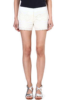 TORY BURCH Veronique embroidered shorts