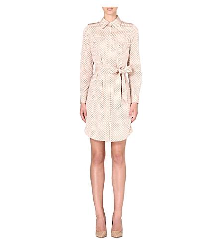 TORY BURCH Brigitte silk-blend shirtdress (Champagne dot