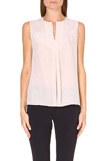 TORY BURCH Vea sleeveless silk top