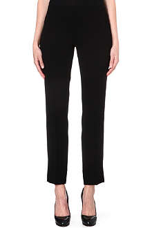 TORY BURCH Rosetta cropped crepe trousers