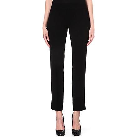 TORY BURCH Rosetta cropped crepe trousers (Black