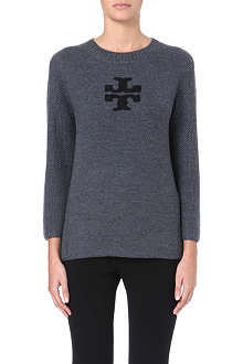 TORY BURCH Janelle logo-detail wool jumper