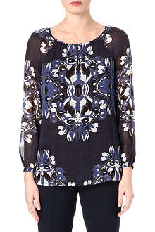 TORY BURCH Bell sleeve floral-print top