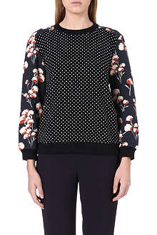 TORY BURCH Ronnie floral-sleeve sweatshirt