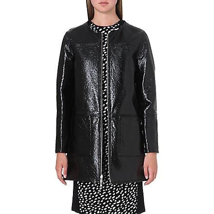 TORY BURCH Jade reversible patent coat (Black