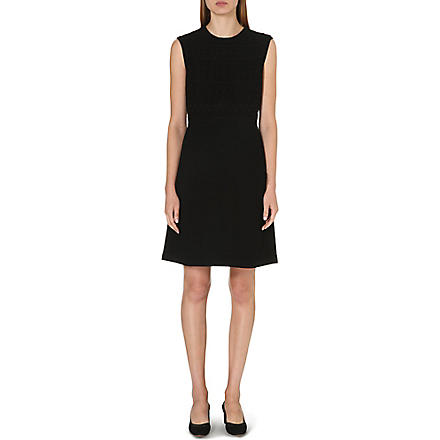 TORY BURCH Roberta embroidered-detail dress (Black