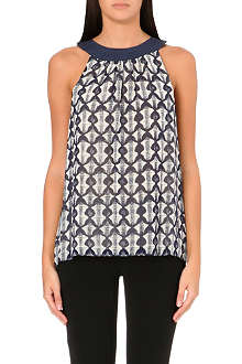 TORY BURCH Meredith sleeveless printed top