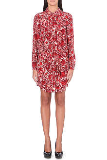 TORY BURCH Cora rose-print shirt dress