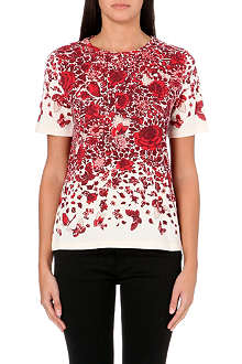 TORY BURCH Rose-print t-shirt
