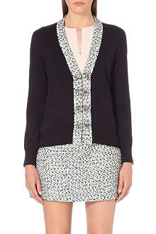 TORY BURCH Gwyneth tweed-edge cardigan