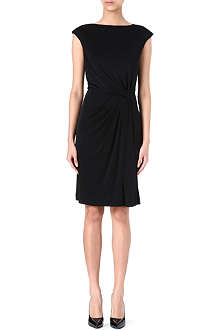 TORY BURCH Silk ruched-waist dress