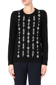 TORY BURCH Etta knitted jumper