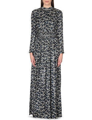 TORY BURCH Stephanie floral-print silk-blend dress