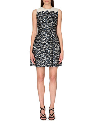 TORY BURCH Rayna floral wool and silk-blend dress