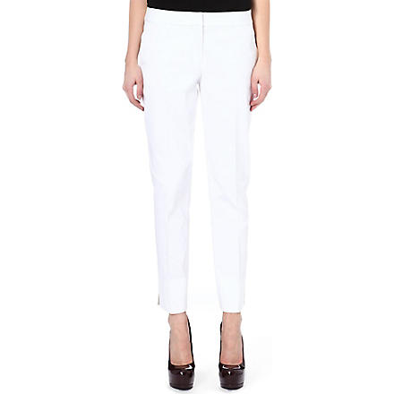 TORY BURCH Tessa slim-fit trousers (White
