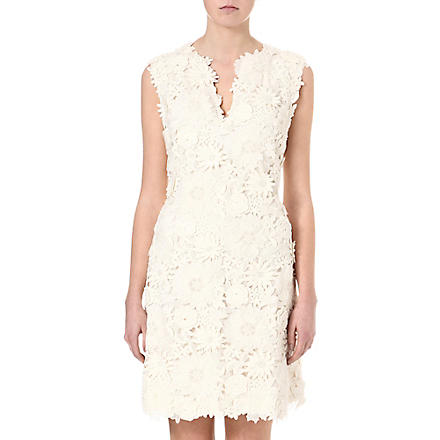 TORY BURCH Merida floral appliqué‎ dress (Ivory