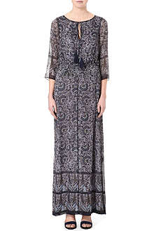 TORY BURCH Carey silk-georgette maxi dress