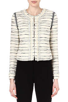 TORY BURCH Nicole tweed cropped jacket