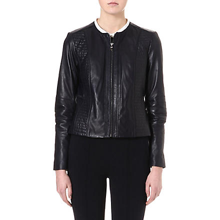 TORY BURCH Keisha leather biker jacket (Navy