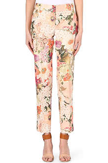 TORY BURCH Floral-print straight trousers