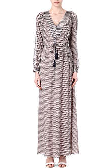 TORY BURCH Elodie belted silk kaftan dress