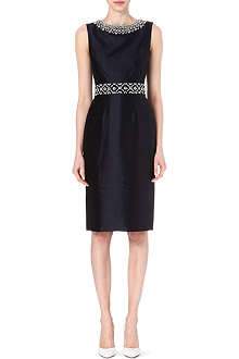 TORY BURCH Embellished tailored silk dress