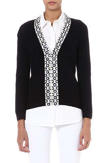TORY BURCH Camilla embellished wool cardigan