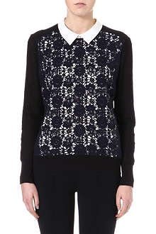 TORY BURCH Sandy crochet-knit jumper