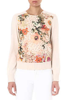 TORY BURCH Kerstin floral-panel jumper