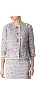 TORY BURCH Cropped bouclé jacket