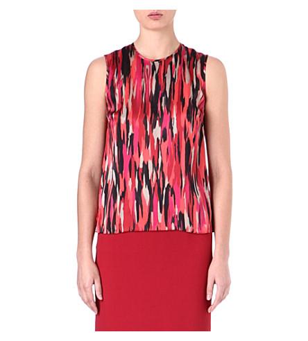 JONATHAN SAUNDERS Creighton sleeveless top (Pollock pink/ magenta