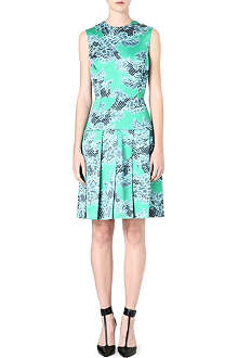 JONATHAN SAUNDERS Lace-print pleated dress