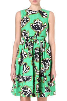 JONATHAN SAUNDERS Laurel printed cotton-blend dress