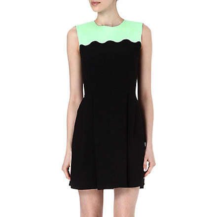JONATHAN SAUNDERS Scallop-detail dress (Blk / mint