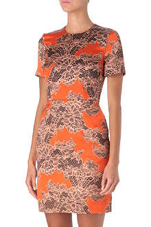 JONATHAN SAUNDERS Lace-print shift dress