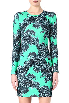 JONATHAN SAUNDERS Lace-print stretch-jersey dress