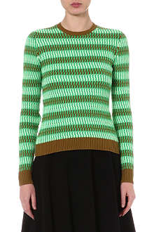 JONATHAN SAUNDERS Striped knitted jumper
